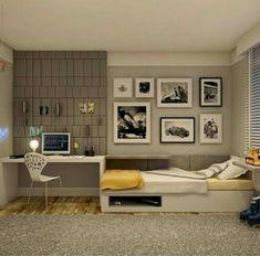 Recursos para cambiar de habitación: de niños a adolescentes – Deco Ideas Hogar Home Bedroom, Kids Bedroom, Home Interior Design, Interior Architecture, Ideas Dormitorios, Teenage Room, Single Bedroom, Dream Rooms, House Rooms