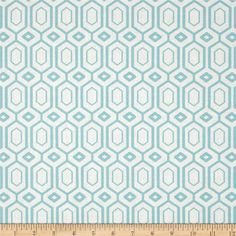 Cove Hexagons Tide from @fabricdotcom  From Camelot Design Studio for Camelot Fabrics, this fabric is perfect for quilting, apparel and home decor accents. Colors include aqua and white.