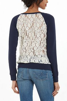 Astern Lace Sweatshirt #anthropologie