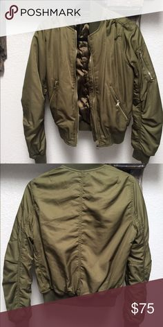 TOPSHOP MA1 Bomber Jacket Olive Green No flaws. Topshop Jackets & Coats