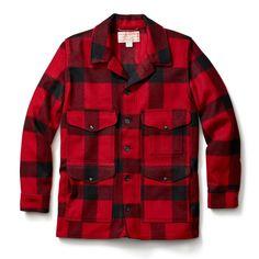 Mackinaw Cruiser Jacket by Filson Ex Machina, Red And Black Plaid, Western Outfits, Casual Shirts, Men Casual, Menswear, Mens Fashion, Fashion Suits, Man Shop
