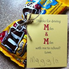 Fun Carpool or Bus Driver gift. I am thinking mailman too. with words changed up a bit! Jw Gifts, Thank You Gifts, Party Gifts, Cute Gifts, Bus Driver Gifts, School Bus Driver, Bus Driver Appreciation, Teacher Appreciation Week, Teacher Treats