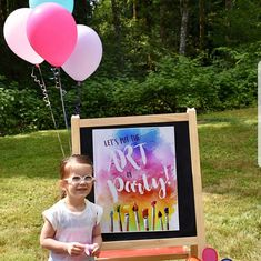 art party sign, art party decorations, let's put the art in party sign, watercolor painting party Art Party Decorations, Construction Party Decorations, Construction Birthday Parties, Art Party Invitations, Fb Banner, Custom Vinyl Banners, Art Birthday, Birthday Ideas, Artist Painting