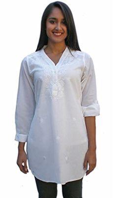 Ayurvastram Pure Cotton Shirt Tunic Top Kurti: White; Siz... https://smile.amazon.com/dp/B006ZOI4Y4/ref=cm_sw_r_pi_dp_mu3txb942B389
