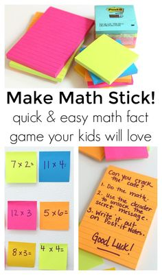 Use Post-it Super Sticky Notes to play this awesome and easy math game.