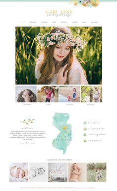 Wix Website design, website template, photography logo, clean ...