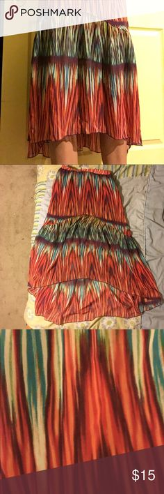 Tribal High Low Skirt Tribal/Feather Pattern, high low skirt Tracy Evans Skirts High Low