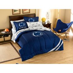 Navy The Northwest Company Officially Licensed NCAA Penn State Nittany Lions Twin//Full Size Comforter with Sham Set