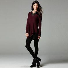 Simply Vera Vera Wang Skinny Scuba Pants - Women's