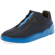Dior Men's Padded Low Top Sneaker - Blue, Size 42.5 (135.070 HUF) ❤ liked on Polyvore featuring men's fashion, men's shoes, men's sneakers, blue, mens cushioned shoes, christian dior mens shoes, mens low tops, mens shoes and men's low top sneakers