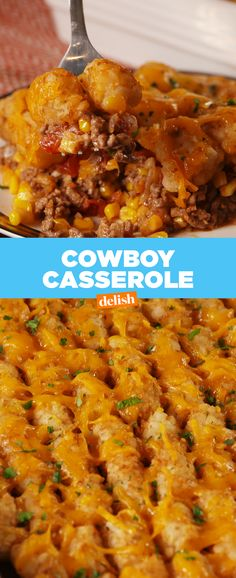 If you love tater tots — you're going to freak out over this Cowboy Casserole. Get the recipe at Delish.com.