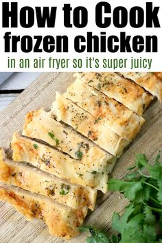 Frozen Chicken Breast in Air Fryer · The Typical MomYou can find Frozen chicken breast and more on our website.Frozen Chicken Breast in Air Fryer · The Typical Mom Air Fryer Recipes Snacks, Air Fryer Recipes Breakfast, Air Frier Recipes, Air Fryer Dinner Recipes, Grilling Frozen Chicken, Baking Frozen Chicken, Frozen Chicken Recipes, Keto Chicken, Butter Chicken