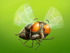 """Agency: Fisher Client:Mat inset Art Director: Michel El Chemorr Project made for a insecticide brand """"Mat inset, including the concept and the final painting of the characters. Made with photoshop and some zbrush textures. Cute Illustration, Character Illustration, Graphic Design Illustration, Cartoon Monsters, Cartoon Art, Comic Art, Character Art, Character Design, Animals Amazing"""