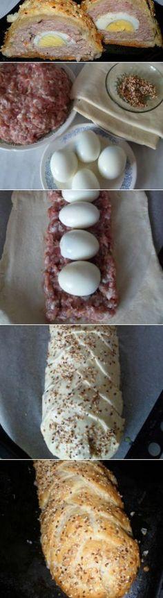Мясной пирог – рулет | Вкусный день
