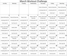 March Workout Challenge