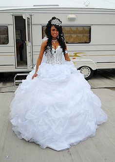 "ONe of my favorite dresses by Sondra Celli on 1 of my fave tv shows: ""My Big Fat Gypsy Wedding"""