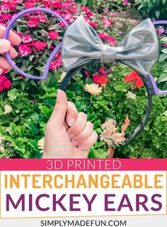 Make your own lightweight Interchangeable Mickey Ears. These printed Mickey ears don't hurt your head so you can wear them all day long! Disney Diy, Disney Crafts, Disney Trips, Craft Projects For Kids, Diy Crafts For Kids, Craft Ideas, Autumn Crafts, Summer Crafts, Fall Wood Signs
