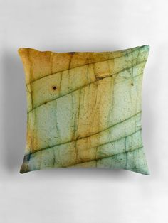 """Labradorite Crystal Gemstone Macro"" Throw Pillows by MMPhotographyUK 