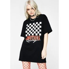 Petals and Peacocks Emotions Racing Flag Tee ($28) ❤ liked on Polyvore featuring tops, t-shirts, black, graphic print tees, petals and peacocks, graphic design tees, graphic printed t shirts and checkered top