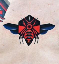 David Cote bee tattoo