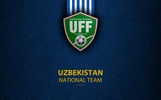 Download wallpapers Uzbekistan national football team, 4k, leather texture, emblem, logo, Asia, football, Uzbekistan, Uzbekistan Football Federation