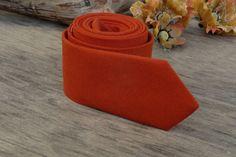 SALE 30% OFF Burnt Orange Tie  Men's skinny tie  Wedding Ties  Necktie for Men FREE Gift - $9.70 USD