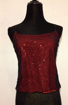 90s Red Sequined Tank Top by thatVideoVAMPvintage on Etsy, $22.00