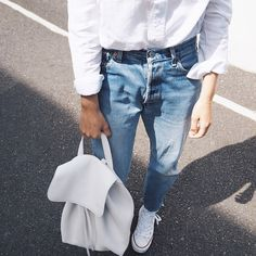 Pin for Later: Dad Style Is at an All-Time High — and These 19 Blogger Pics Prove It Dad Jeans Who knew these babies were this comfortable?