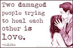 Two damaged people
