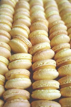 Mango and Yoghurt Macarons (Mango Lassi Macarons)