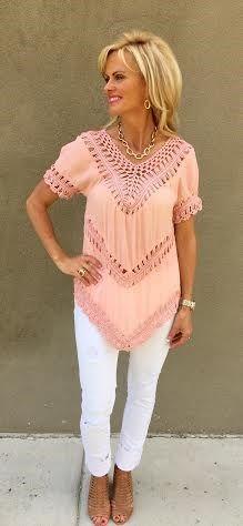 Boho Chic Crochet Tunic in 5 Colors | Jane