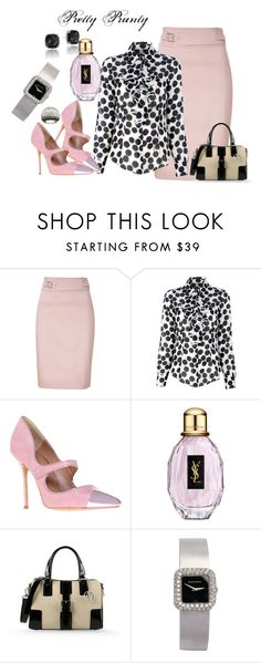 """Pretty Business"" by prettyprunty ❤ liked on Polyvore featuring HUGO, Siviglia, Kurt Geiger, Yves Saint Laurent, Armani Jeans, Tacori and Swarovski"