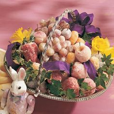 DIY Easter Centerpiece: Made with Sugared Fruit / http://spoonful.com/crafts/easter-centerpiece#