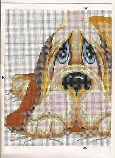 Cross-stitch Bassett Hound, part 2..  color chart on part 3...    Solo Patrones Punto Cruz (pág. 273) | Aprender manualidades es facilisimo.com