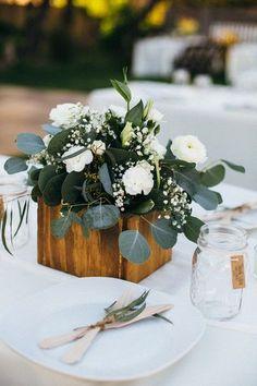 Bohemian Arizona Garden Wedding Wooden Centerpiecessimple Elegant