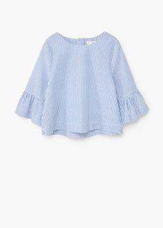 Camisa algodão riscas | MANGO KIDS
