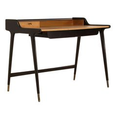 1stdibs | 1950s Black Freestanding Ladies Desk by German Architect Reinhold Stotz
