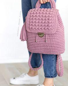 Beginner Crochet Projects, Crochet For Beginners, Diy Crochet, Crochet Crafts, Fashion Bags, Fashion Backpack, Cute Cat Wallpaper, Knitting Patterns, Crochet Patterns