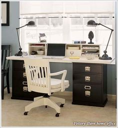 Pottery Barn home office...I can build something like this