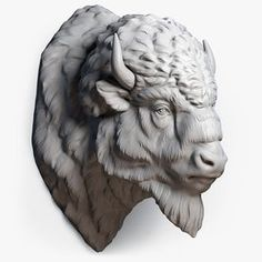 Bison Buffalo Head Sculpture Model available on Turbo Squid, the world's leading provider of digital models for visualization, films, television, and games. Buffalo S, Buffalo Animal, Bison Tattoo, Wild Tattoo, Animal Heads, Animal Faces, Kopf Tattoo, American Bison, Sculpture Clay