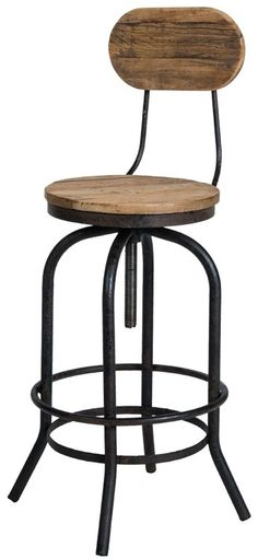 French Country Reclaimed Bar Stool