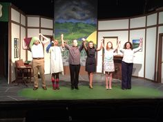 Take a bow - the cast of Fox on the Fairway, Musicals, The Past, Fox, It Cast, Take That, Seasons, Painting, Seasons Of The Year, Painting Art