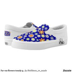 Far-out flowers trendy girly pattern printed shoes