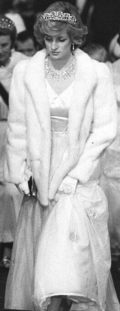 Princess Diana..Opening of Parliment. The Princess was invited by the Queen to attend for six years.