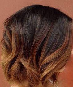 karamell kurzes Haar ombre