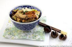 add the tofu, remove when fragrant. Fry 12 sliced shiitake mushrooms ...
