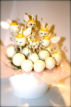 Angels by PetiteDelightsbyMichele, via Flickr  Angel Cake Pop Bouquet