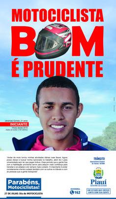 Anúncio III Para Jornal - Dia Do Motociclista 2016 - Cliente Gov. Do Piauí