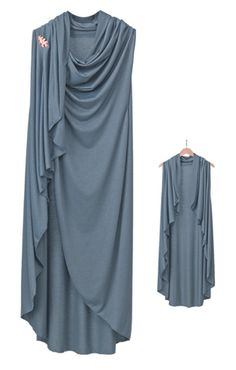 Unstructured Wrap: Your ideal travel companion - comfortable, makes you look good, does whatever you want. This unstructured wrap drapes beautifully, and Abaya Fashion, Muslim Fashion, Fashion Dresses, Dress Sewing Patterns, Clothing Patterns, Mode Kimono, Mode Hijab, Hijab Outfit, Shawls And Wraps
