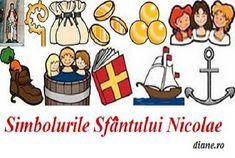 Simbolurile Sfântului Nicolae sunt asociate cu calitatea sa de ocrotitor, binefăcător al copiilor, săracilor și marinarilor, dar și cu obiec... Quotes, Astrology, Quotations, Quote, Shut Up Quotes